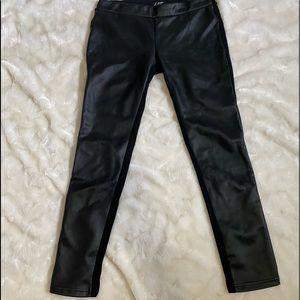 Faux leather ( front ) leggings